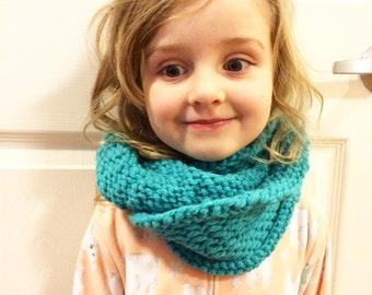 Child Cowl Neck Warmer, Toddler Neck Warmer, Child Neck Warmer, Toddler Knit Cowl, Neck Warmer Wool Blend, Red Cowl, Blue Neck Warmer