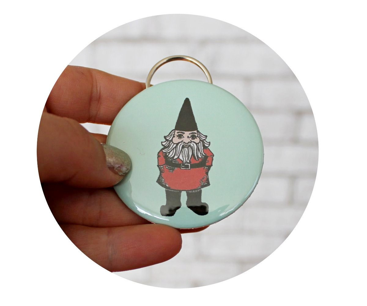 garden gnome bottle opener key chain cute keychain light. Black Bedroom Furniture Sets. Home Design Ideas