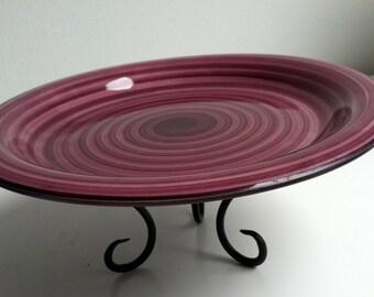 Swirl Pedestal Plate
