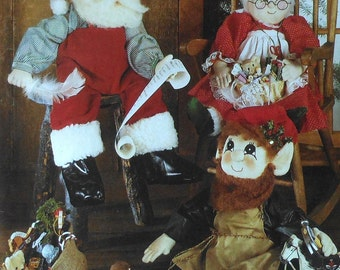 Santa Claus & Mrs. Claus Dolls Sewing Pattern UNCUT Simplicity 7067 doll