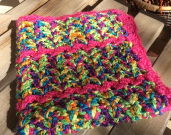 Neon Mix and Pink blanket