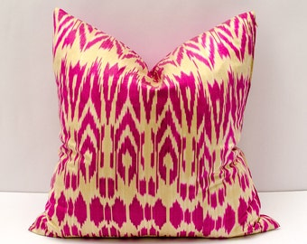 20x20 ikat pillow cover,pink cream pillow cover cushion case