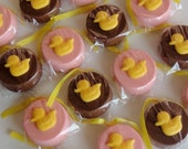 1 Dozen Chocolate Covered OREO Cookies  -  Rubber DUCKY  -  Baby Shower favors, Gender Reveal, Birthday Party, Valentines Day Gift, Easter