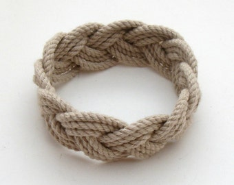 Sailor Bracelet in Tan Woven Cotton