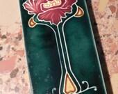 antique poppy art nouveau tile....beautiful art deco craftsman
