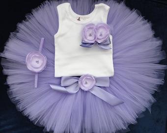 Baby Girls Lavender Tutu Dress, Purple Tutus for Baby Girls