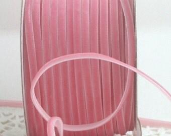 "Narrow Pink Velvet Ribbon, 1/8"" wide Ribbon by the yard, Pink Velvet Trim, Weddings, Sewing, Velvet Chokers, Gift Wrapping, Invitations"