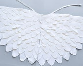Kids White Wing Cape, Childrens Bird Dressing up Costume Wing Set, For Boys Girls Toddlers