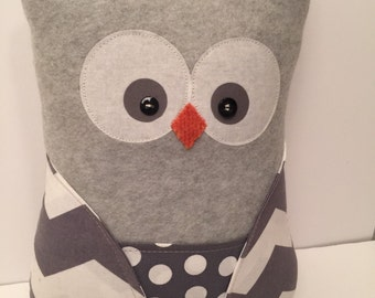 owl pillow, stuffed owl, owl toy, gifts for kids, home decor, owl decor, stuffed toy, stuffed animal,