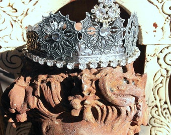 Crown Tiara Metal Doll Statue Bust French