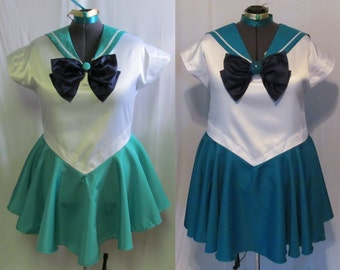 Plus Size Sailor Neptune Scout Costume Cosplay Adult Women's Custom Fit 16 18 20 22 24 Sailor Moon