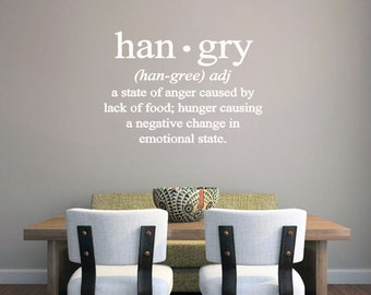 Hangry - Kitchen and Man Cave Wall Decals