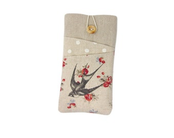 iPhone 7 Case, iPhone SE, iPhone 7 Plus Case, Swallow, iPod 6, iPhone 6S Plus Case, iPhone 7 Pouch, Fabric Phone Sleeve, iPhone 6S Cover