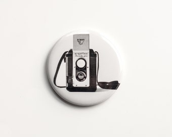"The Argoflex - B&W Photograph of a Vintage Camera - 2.25"" Magnet"