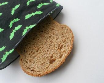 Glow-in-the-Dark Bats Reusable Sandwich Bag/ Spider Web Reusable Sandwich Bag