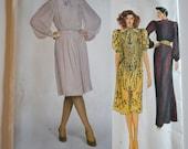 Vogue American Designer 2849 Albert Nipon Misses Dress Size 14 UNCUT