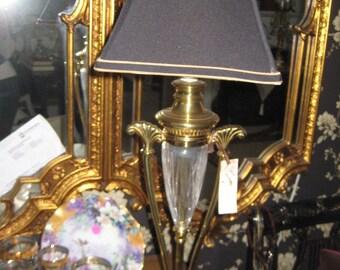 Brass/Crystal Neo Classic Lamp