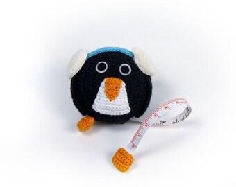 Lantern Moon Crocheted Penguin Sewing Knitting Tape Measure