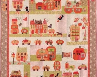 Pumpkinville 2048 Halloween Autumn Pumpkin Village BOM Bunny Hill Pattern Set