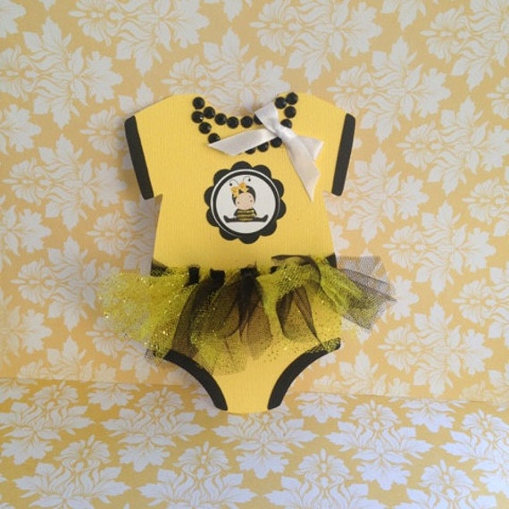 Bumble Bee Onesie Invitation 25 Baby Shower With