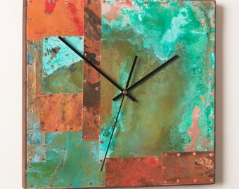 14 inch Copper Clock