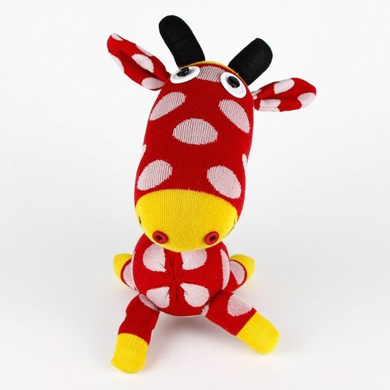 kids toys Handmade Sock Giraffe Stuffed Animal Doll Baby Toys