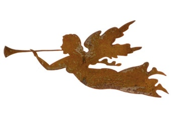 Angel Christmas Ornament or Plant Stake, Garden, Rust, Christmas, Metal, Marker, Iron, Tree, Gift, Holiday, Plant, Stake, Memorial