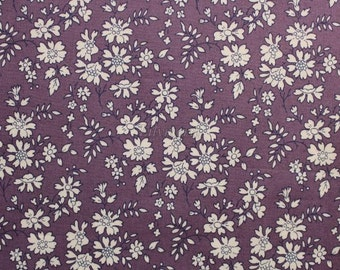 Liberty tana lawn printed in Japan - Capel - Dark purple mix