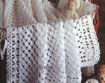 Free Crochet Pattern Heirloom Baby Blanket : Heirloom afghan Etsy