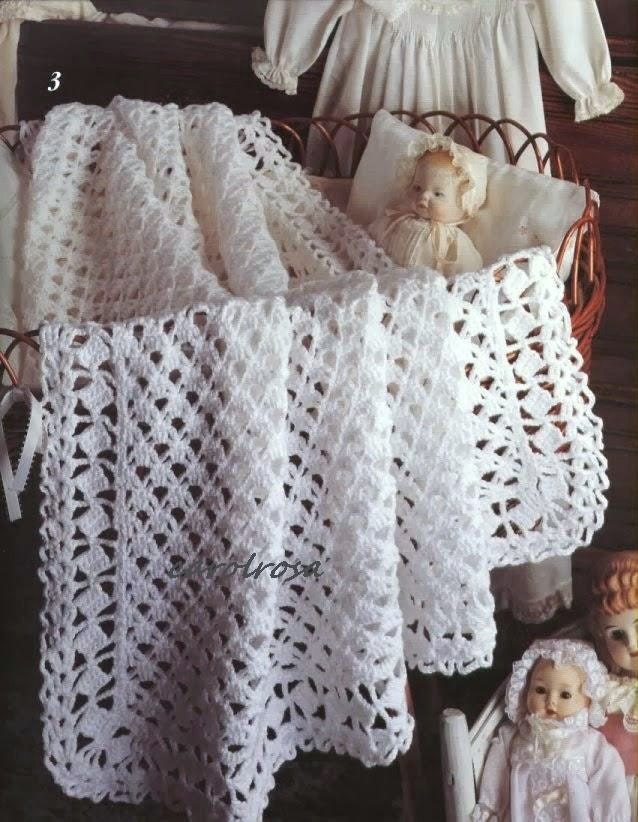 Crochet Patterns For Shawls For Babies : Crochet PATTERN Sweet Lace Blanket Afghan for Baby Shawl
