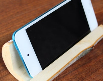 iPhone Holder Rustic Birch iPod Holder Wooden