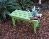 Colorful Cedar Bench / Table for Garden & Deck in 15 stain colors handcrafted by Laughing Creek Productions