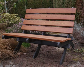 Cedar Love Seat - Two-Color - Storable - for Garden, Deck, Porch & Patio (pick from 12 colors) - Handcrafted Quality by Laughing Creek