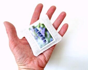 Organic lavender sachet, Summer sachet, linen sachet, sachet pillow, bridal shower favor, drawer freshener, organic natural aromatherapy
