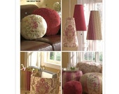 Sew & Make Butterick B5230 Waverly SEWING PATTERN - Designer Decor Pillows Footstools Lampshades