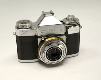 1950s Vintage German Camera Zeiss Ikon Contaflex Made in Germany 35MM Film Removable Back Photographer Collectible Movie Prop