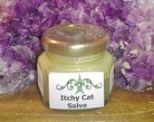 Itchy Cat Salve, 1.5 ounce, natural herbs, topical healing salve, therapy salve, natural salve, for itchy cats & dogs, unique visions by Jen