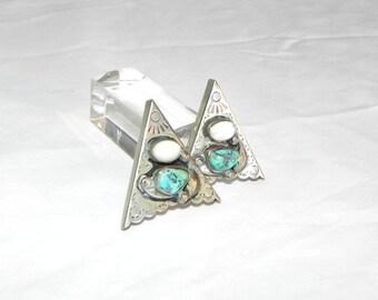 Shirt clips southwestern Turquoise