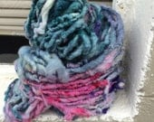 Muted FairyTail  HandSpun and Hand Dyed Yarn