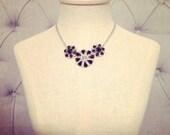 Vintage Little Black Statement Necklace