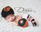 pants only....  Baby Boy,Crochet Baltimore Orioles Baseball, pants,,,Newborn photography pro
