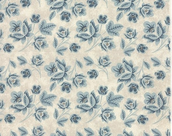 PERSIMMON Moda Fabric 3 yds Basic Grey shabby quilting sewing calico floral Marshmallow Blueberry 3 full yards 30380-12