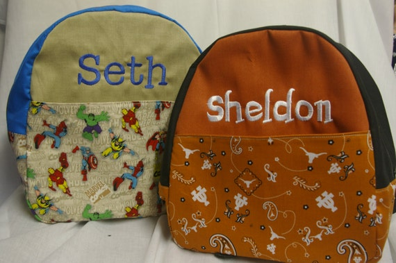 Custom Child's Backpack with FREE PERSONALIZATION