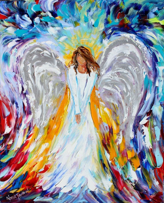Print Of Guardian Angel Gallery Quality Giclee Print On Canvas
