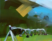 The Pivot original landscape oil painting by  Angela Moulton 5 x 7 inch on panel prattcreekart