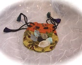 Pocket size Healing Energy Pouch with 7 Natural Stones and Crystals