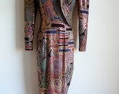 RESERVED Sale 80s showstopper cocktail evening dress