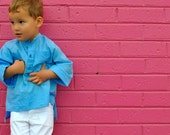 RESERVED boys tunic shirt - ocean blue