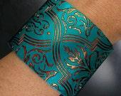 Handmade polymer clay cuff bracelet