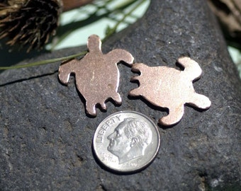Turtle 20mm x 23mm for Blanks Enameling Stamping Texturing